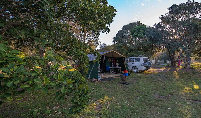 Delicate campground, Goolawah Regional Park. Photo: John Spencer