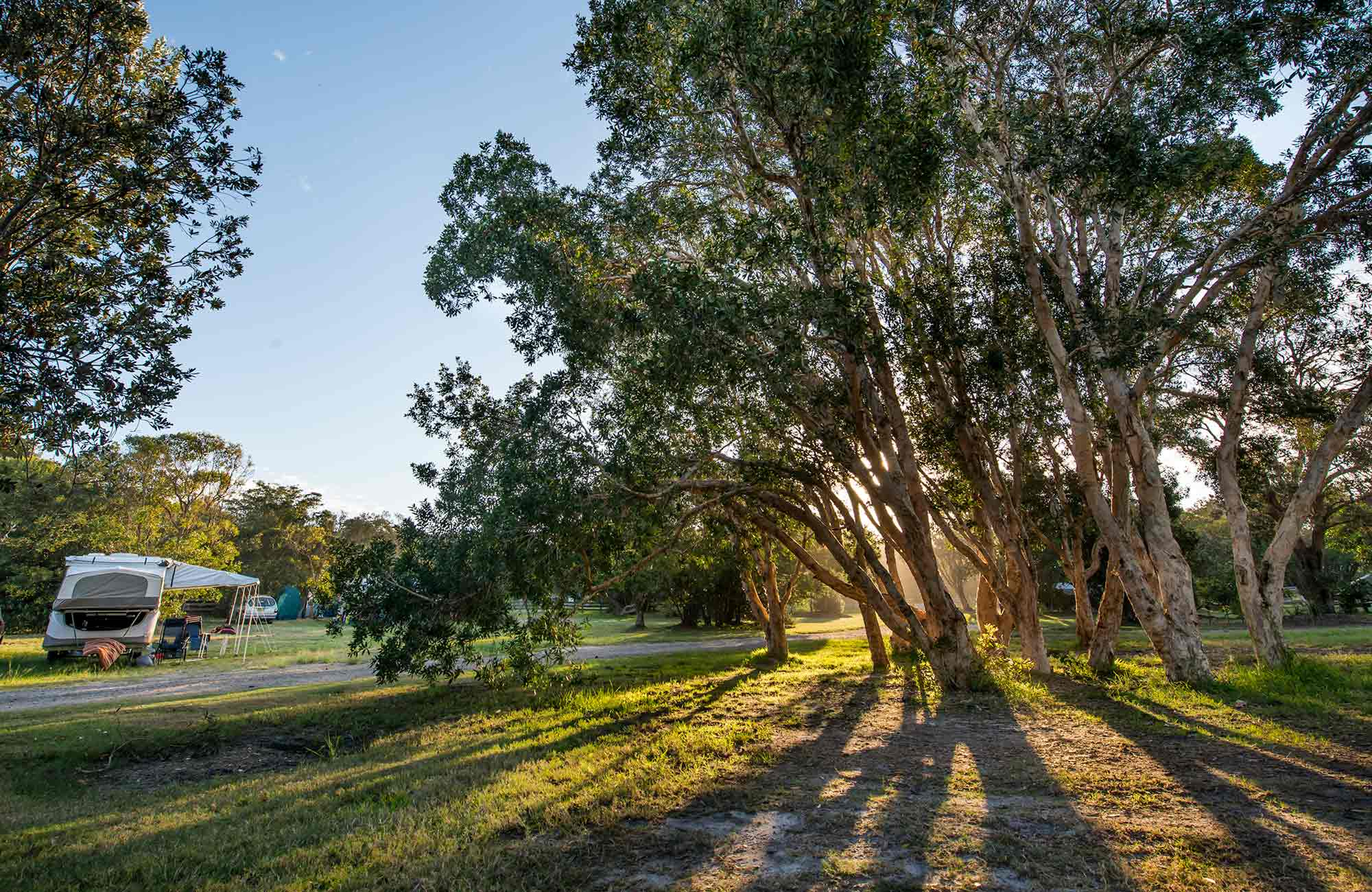 Delicate campground, Goolawah Regional Park. Photo: John Spencer/DPIE