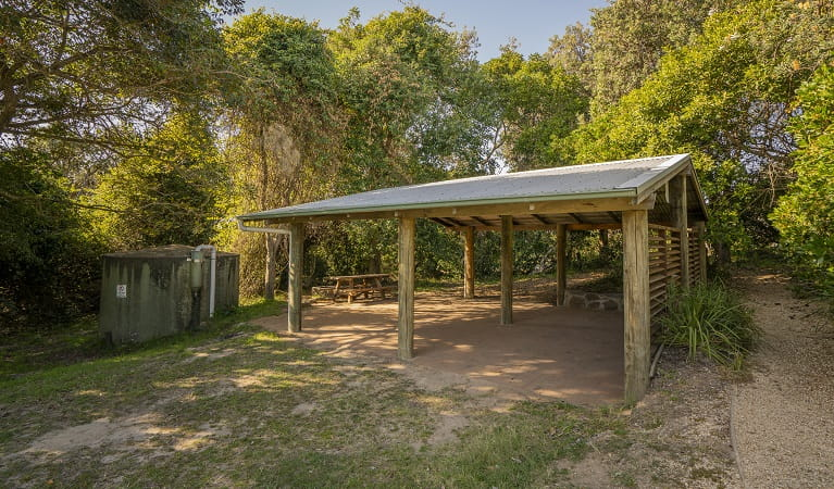 Picnic area facilities at Racecourse campground. Photo: John Spencer/OEH