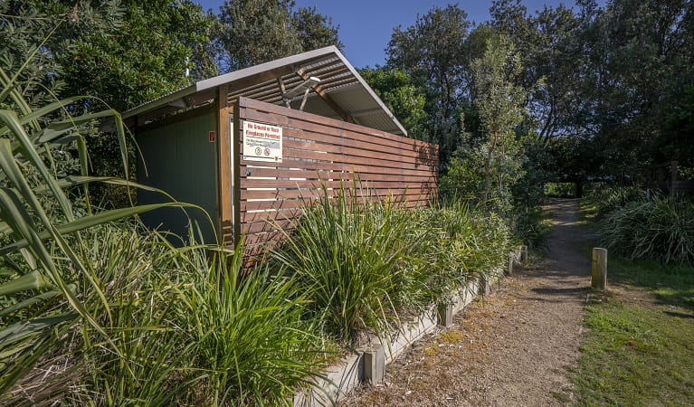 Toilet facilities at Racecourse campground, Goolawah National Park. Photo: John Spencer/OEH