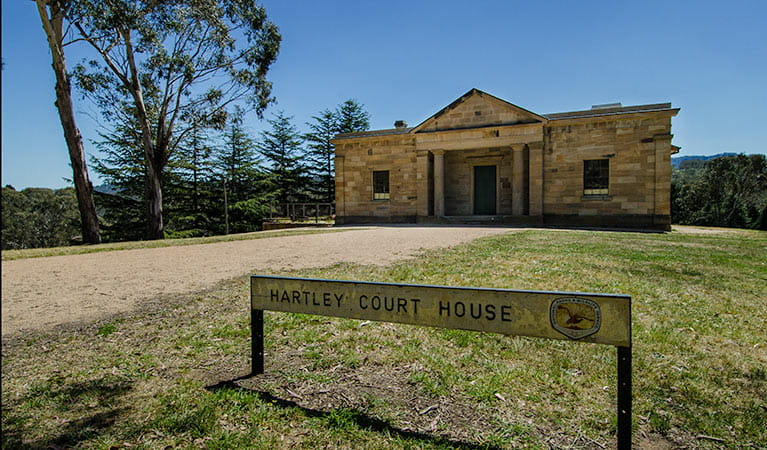 Hartley Courthouse entrance, Hartley Historic Site. Photo: John Spencer