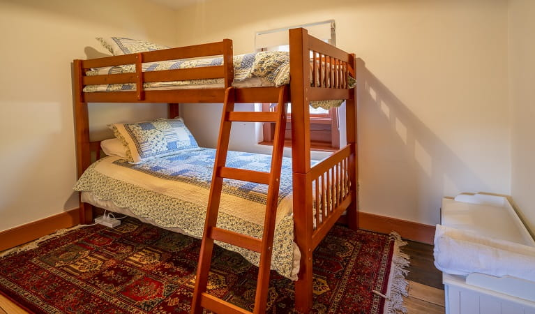 Bunk beds at Old Trahlee, Hartley Historic Site. Photo: John Spencer/OEH