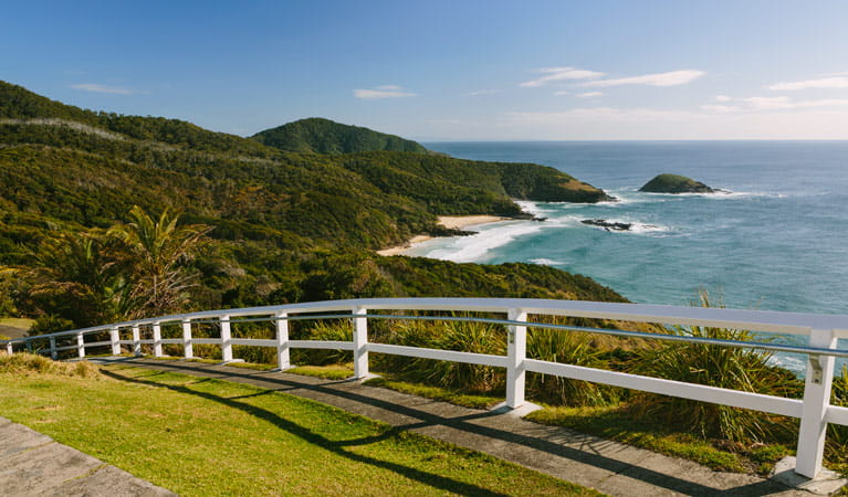 Coastal view from near Smoky Cape lighthouse, Hat Head National Park. Photo: David Finnegan/NSW Government