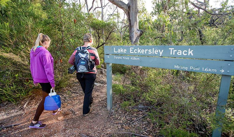 Lake Eckersley campground, Heathcote National Park. Photo: Nick Cubbin/DPIE
