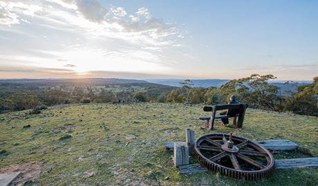Bald Hill lookout, Hill End Historic Site. Photo: John Spencer