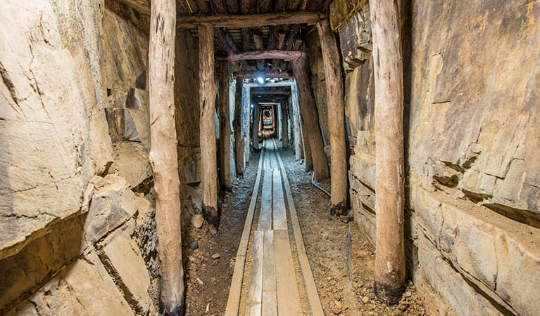 Bald Hill tourist mine, Hill End Historic Site. Photo: John Spencer
