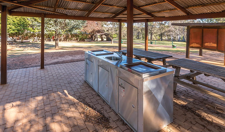 Close up of barbecue facility at Hospital picnic area in Hill end Historic Site. Photo: John Spencer/DPIE