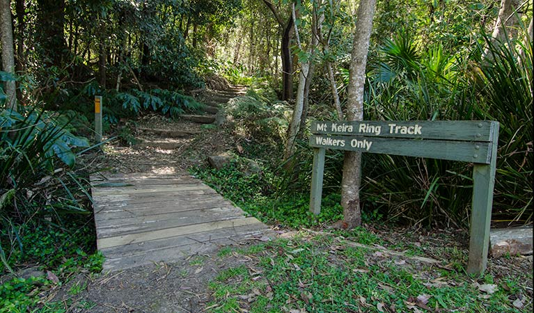 Entrance to Mt Keira Ring track, Illawarra Escarpment State Conservation Area. Photo: John Spencer