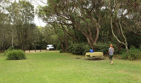 A woman at Hammerhead Point picnic area, Jervis Bay National Park. Photo: Andrew Richards © Andrew Richards