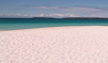 White sand and clear water at Hyams Beach, Jervis Bay National Park. Photo: David Finnegan &copy: DPIE