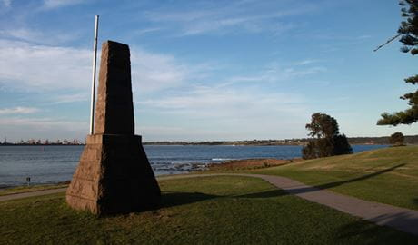 Site of Captain Cook's Landing Place. Photo: Andy Richards
