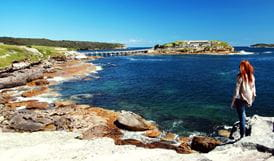 View to Bare Island, Kamay Botany Bay National Park. Photo: Andy Richards