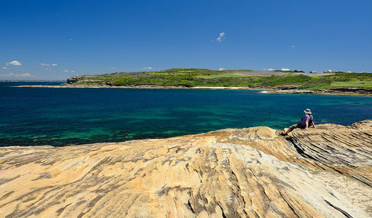 View of Cruwee Cove Beach and Little Bay from Cape Banks, Kamay Botany Bay National Park. E Sheargold/OEH