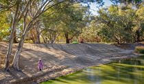 Campsite along the bank of Darling River in Kinchega National Park. Photo: John Spencer/DPIE