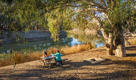 Darling River campground, Kinchega National Park. Photo: David Finnegan/NSW Government