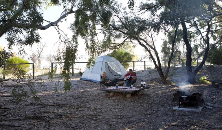 Campers in Lake Cawndilla campground. Photo: David Finnegan