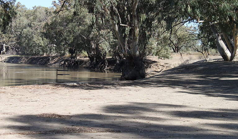 Darling River campsites, Kinchega National Park. Photo: J Doyle.