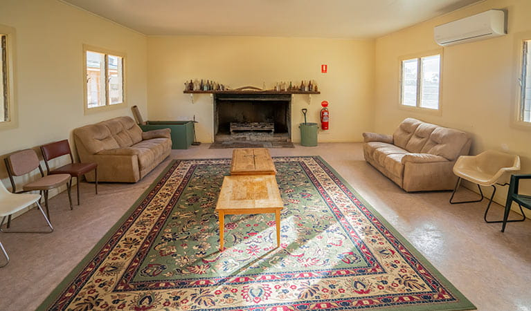 The lounge room at Kinchega Shearers Quarters. Photo: John Spencer/DPIE