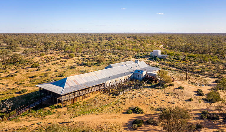 Aerial view of Kichega Woolshed. Photo: John Spencer/DPIE