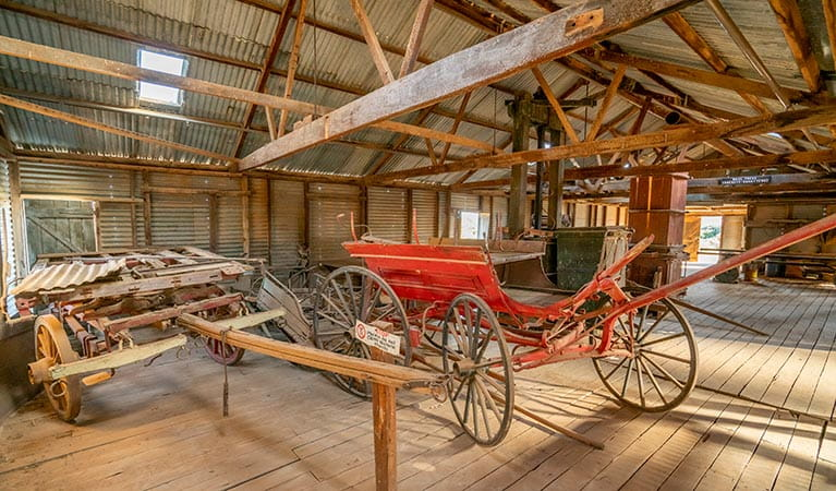 Inside Kinchega Woolshed. Photo: Dinitee Haskard OEH