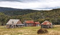 View of Coolamine Homestead buildings in the High Plains area of Kosciuszko National Park. Photo: Jennene Cathcart/DPIE