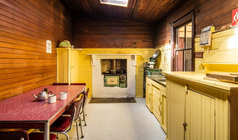 Daffodil Cottage kitchen, Kosciuszko National Park. Photo: Murray Vanderveer/OEH