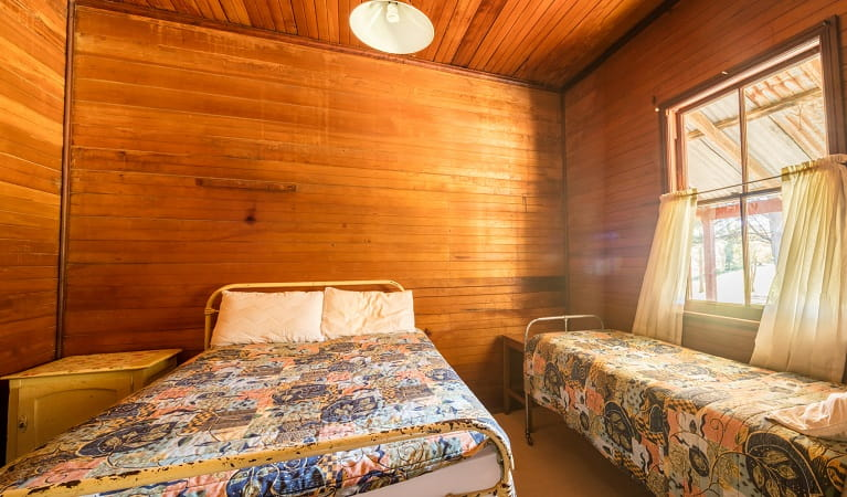 One of the bedrooms in Daffodil Cottage, Kosciuszko National Park. Photo: Murray Vanderveer/OEH