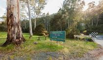 Signage at Leatherbarrel Creek campground and picnic area, Kosciuszko National Park. Photo: Murray Vanderveer © DPIE