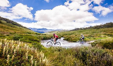 Pilot Wilderness mountain bike ride (Cascade Hut to Barry Way), Kosciuszko National Park. Photo: Murray Vanderveer