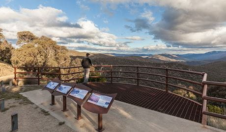 Wallace Craigie lookout, Kosciuszko National Park. Photo: Murray Vanderveer/DPIE