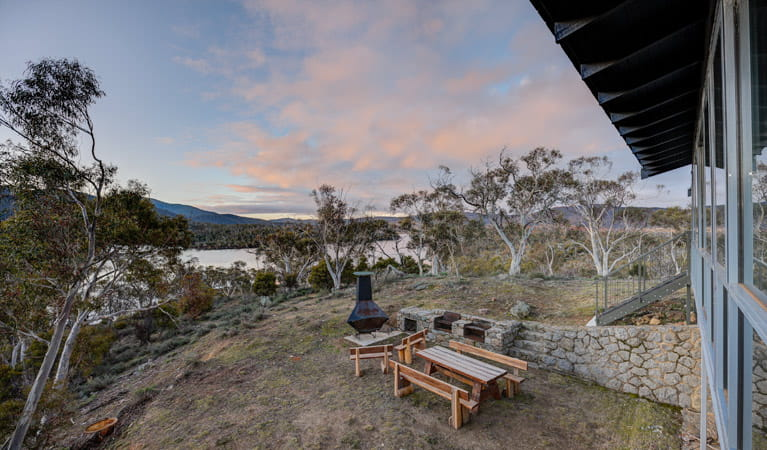 Creel Lodge garden, Kosciuszko National Park. Photo: Murray Vanderveer/OEH.