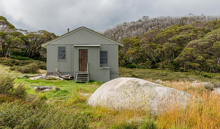 Exterior of Schlink Hut, near Guthega in Kosciuszko National Park. Photo: John Spencer/OEH