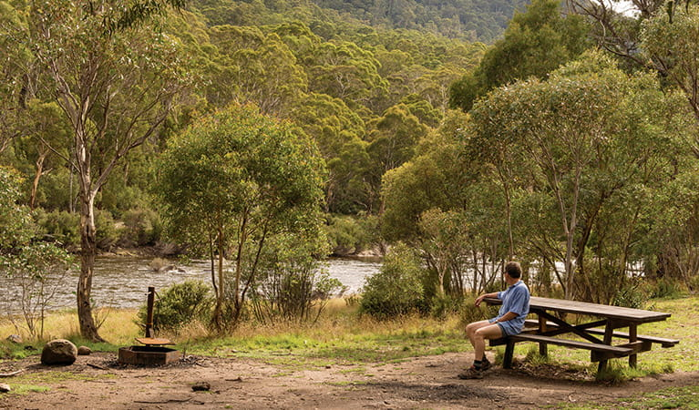 Island Bend campground, Kosciuszko National Park. Photo: John Spencer/OEH