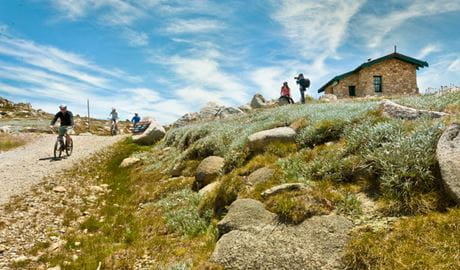 Seamans Hut along the Mount Kosciuszko Summit walk, Kosciuszko National Park. Photo: Murray Vanderveer