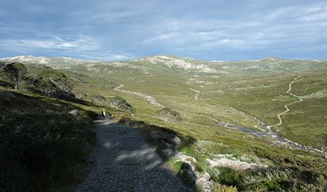 Main Range walk and mountains, Kosciuszko National Park. Photo: E Sheargold/OEH