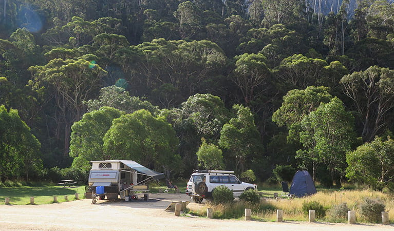 Camping at Ngarigo campground, Kosciuszko National Park. Photo: E Sheargold/OEH