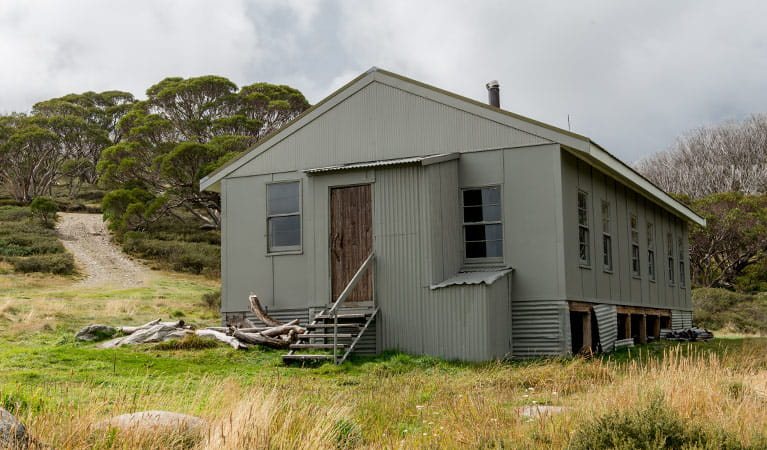 Exterior of Schlink Hut, near Guthega, Kosciuszko National Park. Photo: John Spencer/OEH