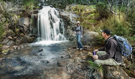 Waterfall walking track, Kosciuszko National Park. Photo: Murray Vanderveer