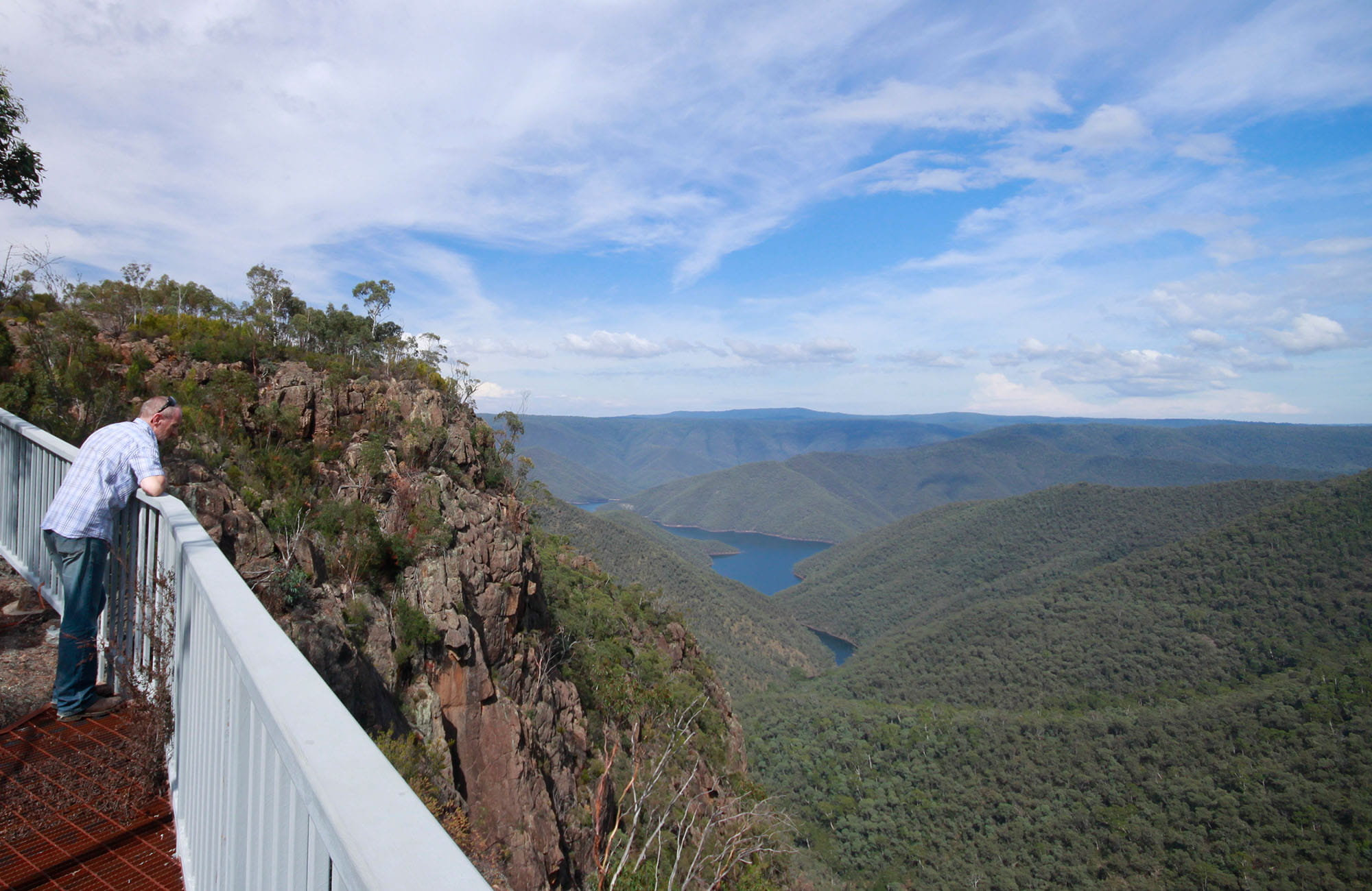 Landers Falls lookout, Kosciuszko National Park. Photo: Elinor Sheargold