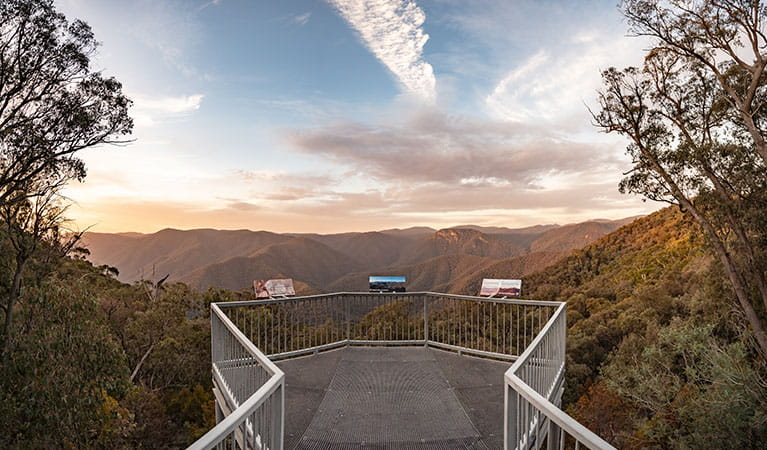Sunset view of Black Perry lookout, off Alpine Way, near Talbingo in Kosciuskzo National Park. Photo: Robert Mulally/OEH
