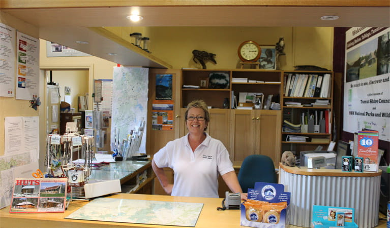 Staff member at the Tumut Visitor Centre. Photo: Clint & Todd Wright