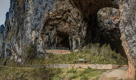 Glory Arch and entrance to South Glory Cave, at Yarrngobilly Caves in Kosciuszko National Park. Photo: Murray Vanderveer