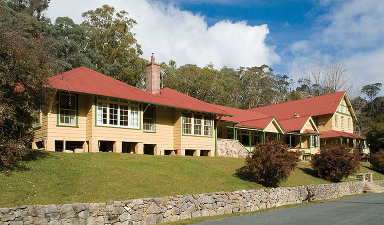 Yarrangobilly Caves House: East and west wings exterior, Kosciuszko National Park. Photo: Michael Van Ewijk/DPIE