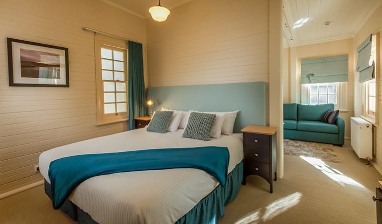 Yarrangobilly Caves House - 1917 bedroom suite, Kosciuszko National Park. Photo: Murray Vanderveer/NSW Government