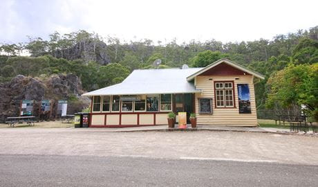 Yarrangobilly Caves visitor centre, in northern Kosciuszko National Park. Photo: Elinor Sheargold/OEH