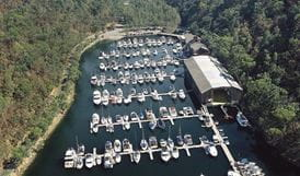 Akuna Bay Marina, Ku-ring-gai Chase National Park. Photo: OEH