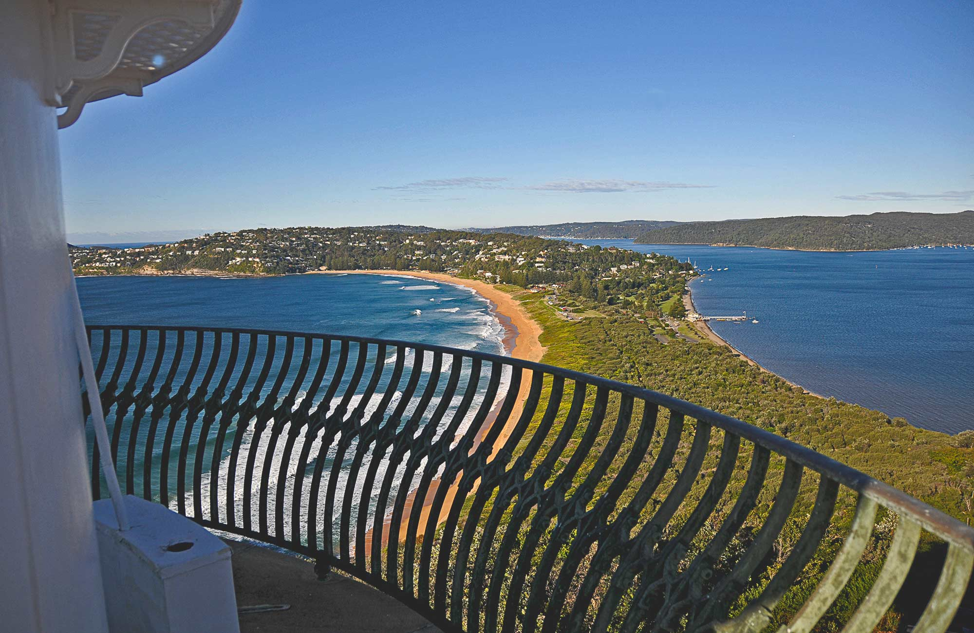 The view from the top of Barrenjoey Lighthouse. Photo:K. McGrath