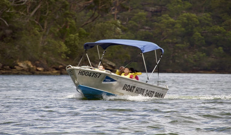 Hire boats leaving Bobbin Head, Ku-ring-gai Chase National Park. Photo: Darren Vaux