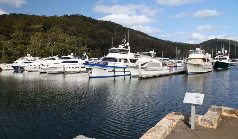 Empire Marina boats, Ku-ring-gai Chase National Park. Photo: Andrew Richards