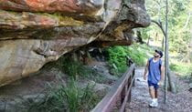 Red Hands Cave, Ku-ring-gai Chase National Park. Photo: Andy Richards/NSW Government